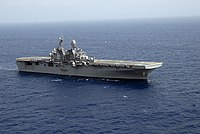 US Navy 090717-N-0860R-088 The amphibious assault ship USS Makin Island (LHD 8) transits the Caribbean Sea.jpg