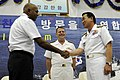 US Navy 100421-N-8959T-101 Korean navy Rear Adm. Lee Beom-Rim, right, assumes command of Combined Task Force 151 from Singapore navy Rear Adm. Bernard Miranda.jpg