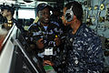 US Navy 100624-N-6604E-076 Lt. Col. Ham Atwooki Kaija, commander of the Air Force for Uganda People's Defense Force, center,.jpg