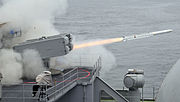 US Navy 100723-N-5528G-014 An Evolved Sea Sparrow missile is launched from the aircraft carrier USS Carl Vinson (CVN 70)