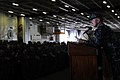 US Navy 101217-N-7605J-030 apt. Thom W. Burke addresses the crew of USS Ronald Reagan (CVN 76 during a captain's call.jpg
