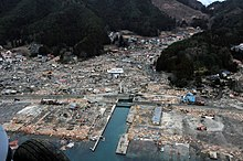 US Navy 110315-N-5503T-311 An aerial view of damage to Wakuya, Japan after a 9.0 magnitude earthquake and subsequent tsunami devastated the area in.jpg