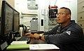 US Navy 110829-N-AB355-008 Cmdr. Leo Albea, commanding officer of the guided-missile destroyer USS Wayne E. Meyer (DDG 108).jpg