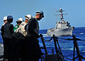 US Navy 120212-N-ED900-779 Safety personnel aboard the guided-missile destroyer USS Pinckney (DDG 91) observe fueling operations during a replenish.jpg
