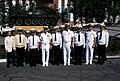 US and Soviet navy officers in front of a T-55 tank at the Soviet navy service school in Vladivostok 2.JPEG