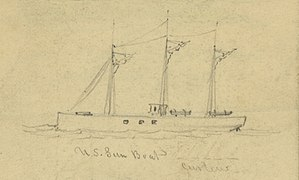 Curlew (steamboat) - Image: US gunboat Curlew