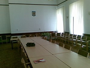 Technical University of Cluj-Napoca - The Senate meeting room