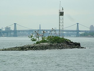 islet on East River in New York City