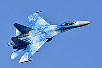 Ukrainian Air Force Sukhoi Su-27P Flanker (29583343448).jpg