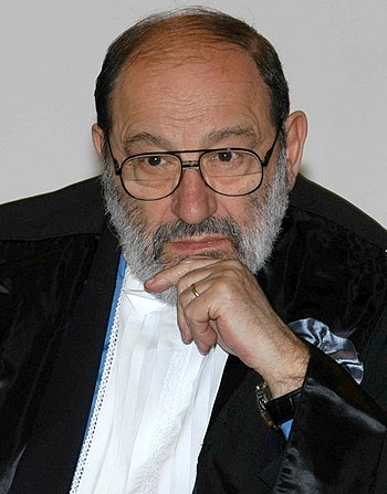 English: Umberto Eco - italian philosopher and...