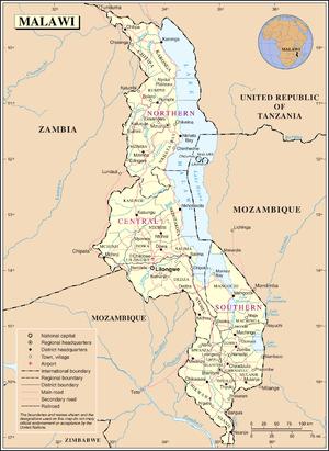 History of Malawi - Map of Malawi