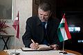 Ungārijas parlamenta priekšsēdētāja oficiālā vizīte Latvijā (8124581441).jpg