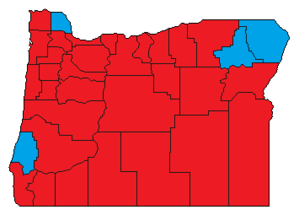 United States presidential election in Oregon County Results, 1956.png