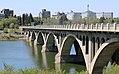 University Bridge and South Saskatchewan River, Saskatoon (505708) (25507855584).jpg