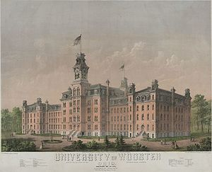 College of Wooster - University of Wooster, lithograph, c1867