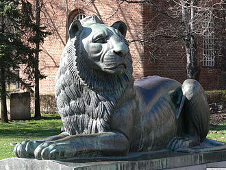 Monument to the Unknown Soldier, Sofia - The lion sculpture