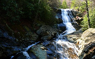 Pisgah National Forest - Upper Creek Falls near the community of Linville in Pisgah National Forest