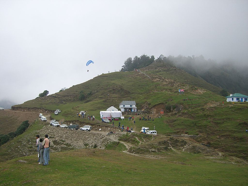 paragliding takeoff at Bir-Billing