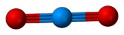 Ball-and-stick model of [UO2]2+