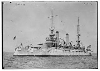 USS <i>Kentucky</i> (BB-6) Kearsarge-class pre-dreadnought battleship of the United States Navy