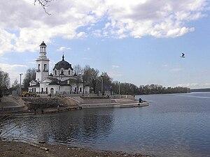 Kolpinsky District - Church of Alexander Nevsky, confluence of Neva River and Izhora River, Kolpinsky District