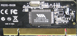 VIA Technologies - A VIA USB PHY on a Rosewill branded PCI USB 2.0 Desktop Expansion card