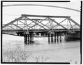 VIEW OF NORTHWEST TRUSS - Marysvale Bridge, Spanning Sevier River on Rio Grande Street, Marysvale, Piute County, UT HAER UTAH,16-MAVA,1-5.tif