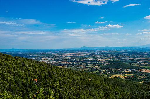 Panorama della Val di Chiana dal Monte Lignano (AR)