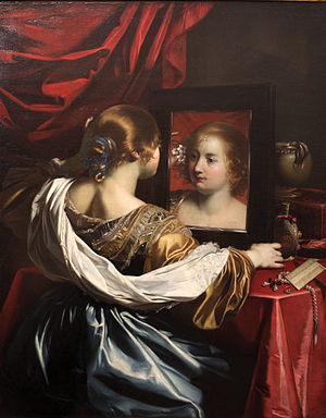 Nicolas Régnier - Woman with the mirror or Vanity, c. 1626