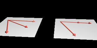 Linear independence - Image: Vec dep