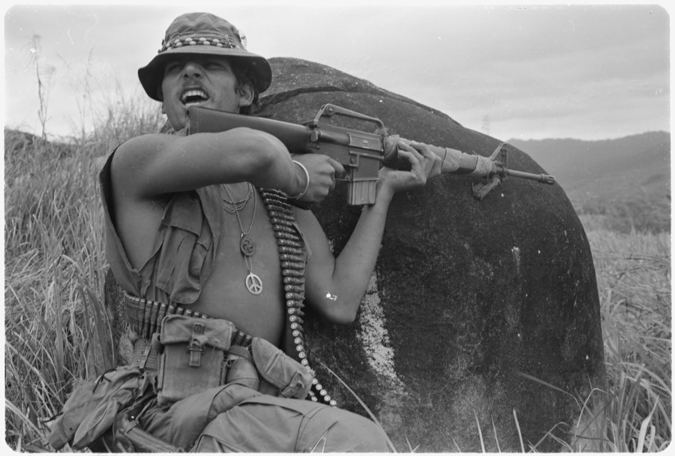 Vietnam....Specialist. 4 Richard Champion, squad leader, Company B, 4th Battalion, 21st Infantry, 11th Light Infantry... - NARA - 531467