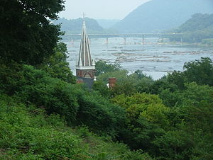 Harpers Ferry, West Virginia - The same view in 2004.