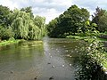 View from Sheepwash Bridge Ashford in the Water - geograph.org.uk - 1605365.jpg