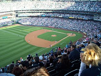 Safeco Field - View from high left field corner in July 2008.