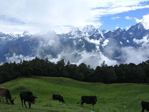 View of Himalayas from Auli - Hill Stations Near Delhi
