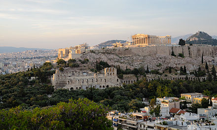 The European Capital of Culture programme was launched in the summer of 1985 with Athens being the first title-holder View of the Acropolis Athens 2 (pixinn.net).jpg