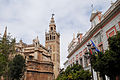 View on The Giralda Seville ( bell tower for the Cathedral of Seville) as seen from Joaquín Romero Murube Str. Seville, Andalusia, Spain, Southwestern Europe.jpg