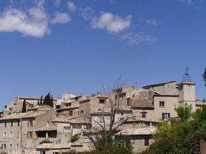 Lurs, Alpes-de-Haute-Provence - A general view of the village of Lurs