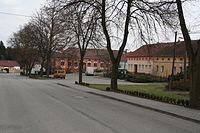 Village square in Petrůvky, Třebíč District.jpg