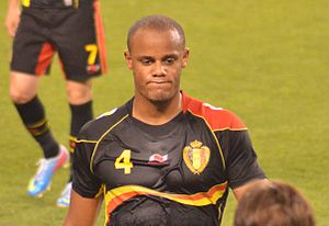 Sport in Belgium - Vincent Kompany, current captain of the Belgium national football team.