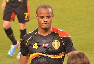 Sport in Belgium - Vincent Kompany, current captain of the Belgium national football team.