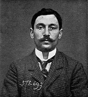 Vincenzo Peruggia - A police photograph of Vincenzo Peruggia in 1911.