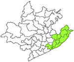 visakhapatnam City district in green