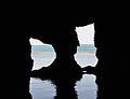 Vista cap a l'exterior des de la sala del llac salat, cova Tallada.JPG