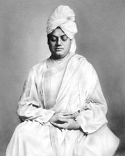 Swami Vivekananda, shown here practicing meditation, was a Hindu guru (teacher) recognized for his inspiring lectures on topics such as yoga.