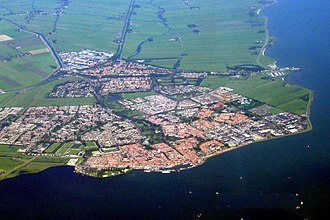 Volendam - Volendam (on the coast) and Edam (at the back)