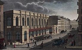 Salle Le Peletier, seat of the Académie royale de Musique or the Paris Opera, c. 1821 (Source: Wikimedia)