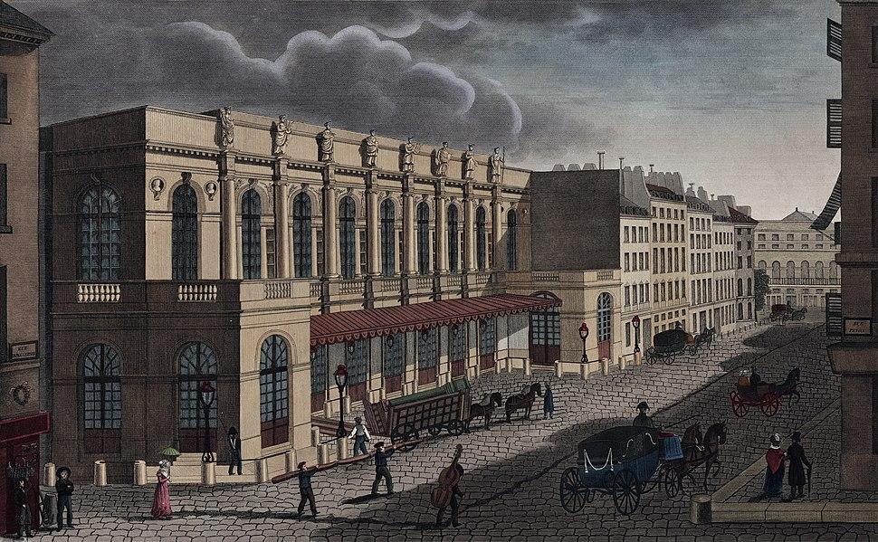 Vue de la nouvelle salle de l'Opéra prise de la rue de Provence - NYPL Digital Collections