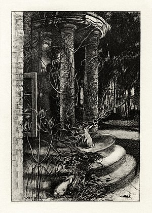 "The Deserted House - Illustration by William Britten accompanying ""The Deserted House"""