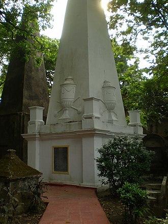 William Jones (philologist) - Tomb of William Jones in Calcutta